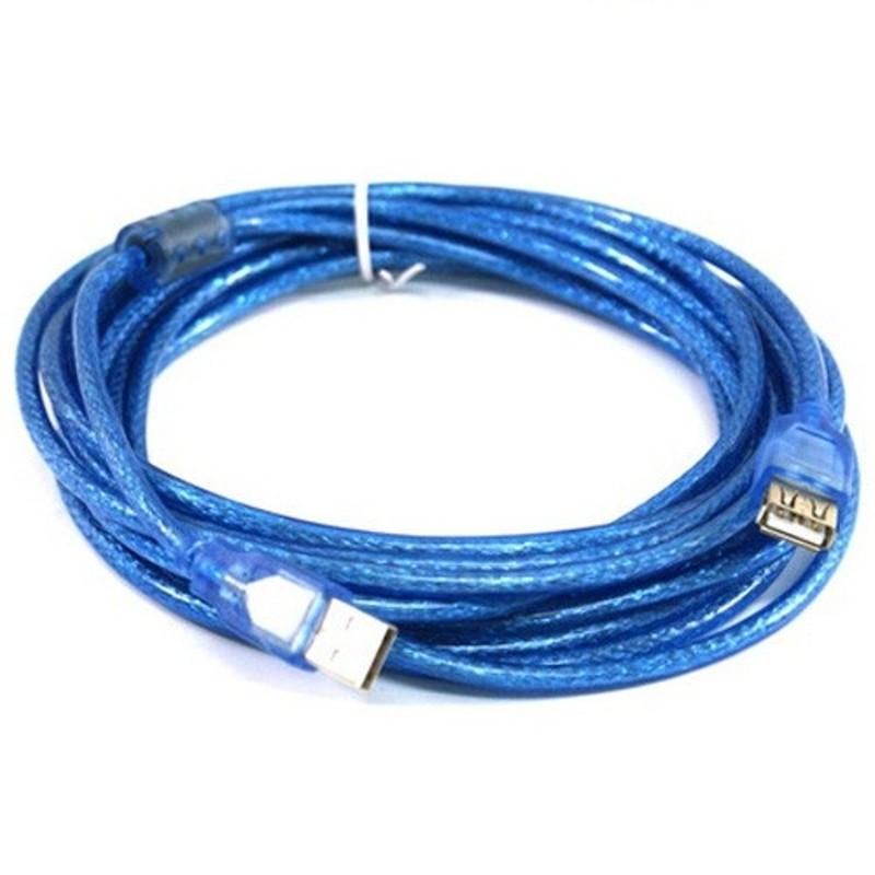 Dây nối dài Usb 3M màu xanh có cục chống nhiễu