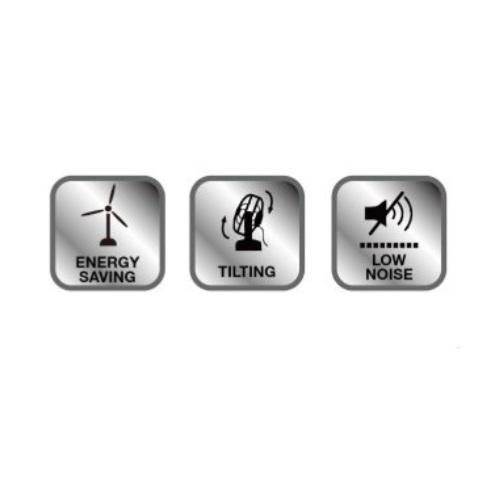 Quạt Tích Điện LivingCook LC-Q412 Tích Hợp Đèn LED Sạc USB - Chính Hãng