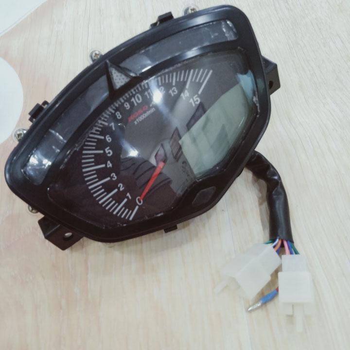 Đồng hồ điện tử gắn Xe máy SIRIUS - EXCITER 2010 Có Báo Tua Máy, Báo Xăng, Báo Odo, Báo Quãng Đường km (TRIP) - S430