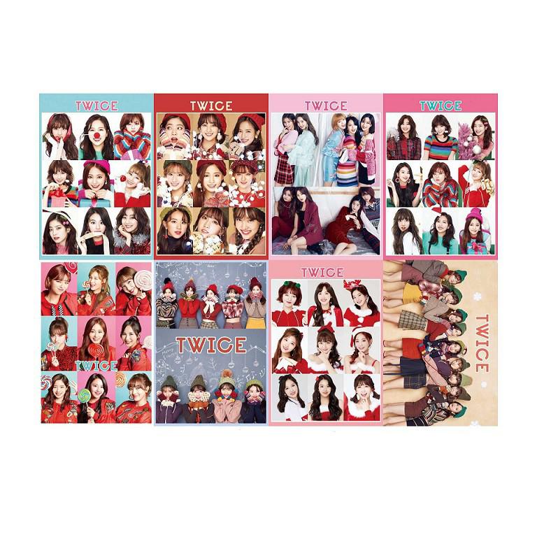 Poster Twice a3 8 tấm đẹp độc đáo