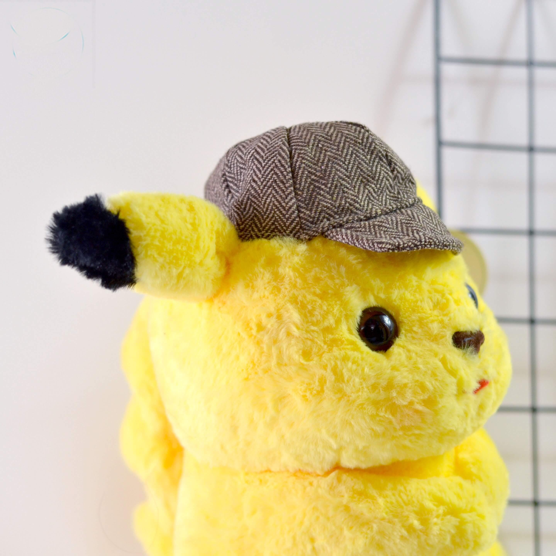Thú bông pikachu thám tử lông xù ngồi - Vàng