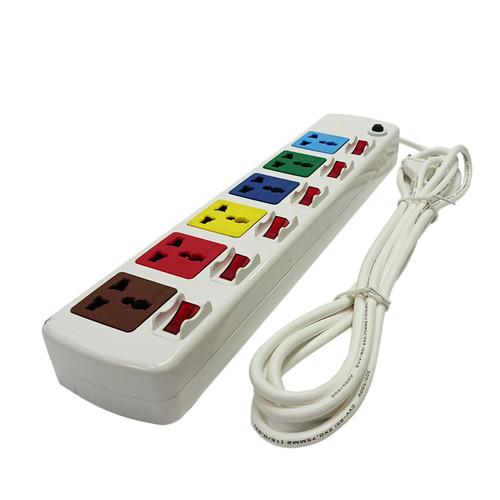 Ổ cắm điện LIOA, 6 lỗ 6 công tắc, ~2000W, dây dài 3m màu trắng Model  6DOF32WN - Ổ cắm điện Thương hiệu LiOA | SieuThiChoLon.com