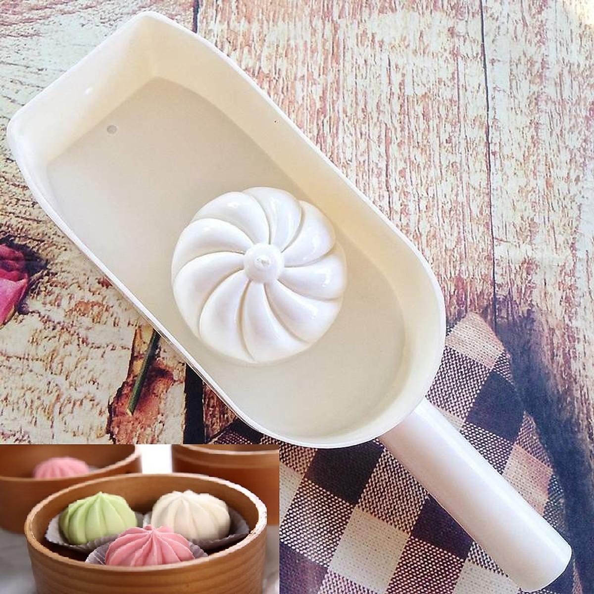 Combo Khuôn Làm Bánh Bao 8cm + Cán Lăn Bột Gỗ 30cm