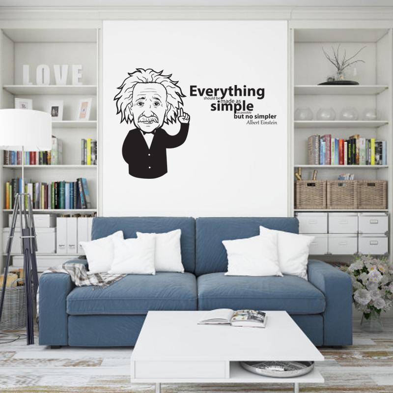 Decal Trang Trí Phòng Làm Việc, Decal Trang Trí Phòng Ngủ, Decal Trang Trí Phòng Khách   Decal Chủ Đề Câu Nói Nổi Tiếng Của Albert Einstein