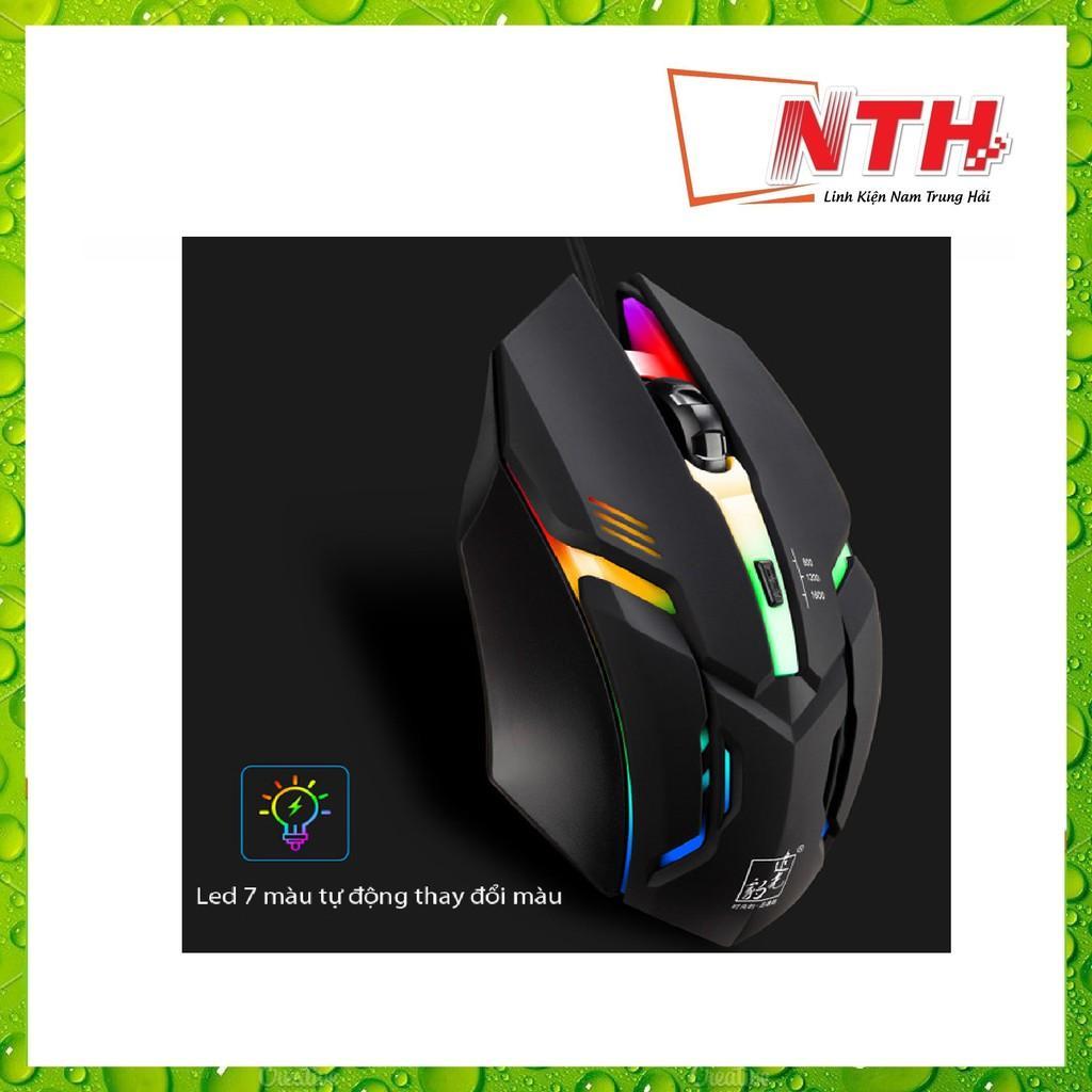 Chuột Game K2 Đèn led 7 màu tự thay đổi.