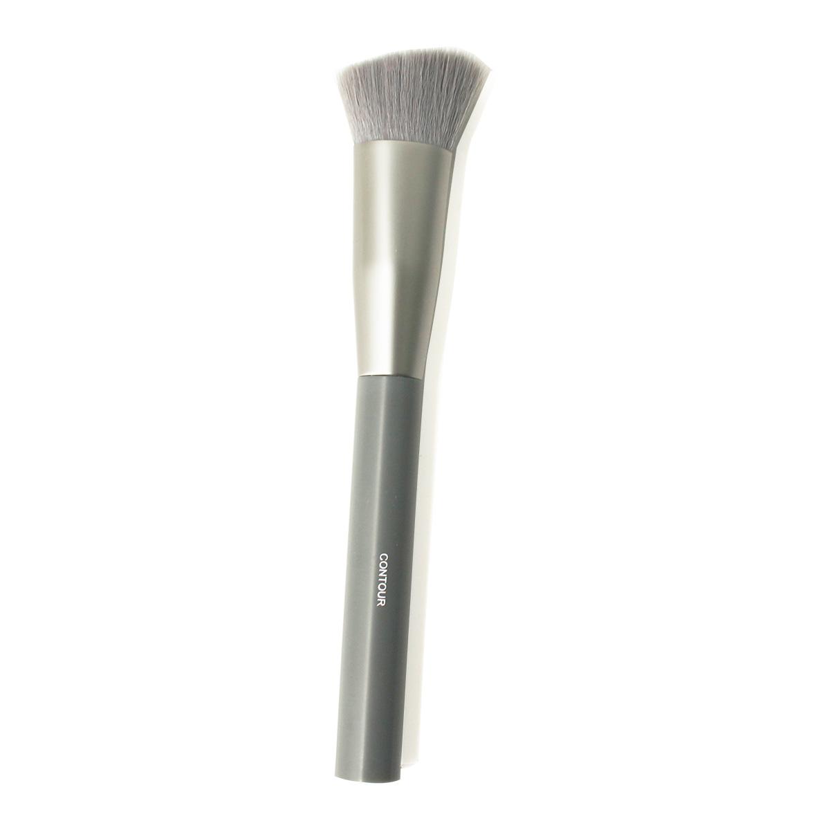 Cọ tạo khối ( cọ contour) đầu vát phẳng Nhật Bản Miniso Macaroon Series-Contour Brush chính hãng chuyên nghiệp đánh phấn má, cằm, trán (màu xám kim loại) - MNS090