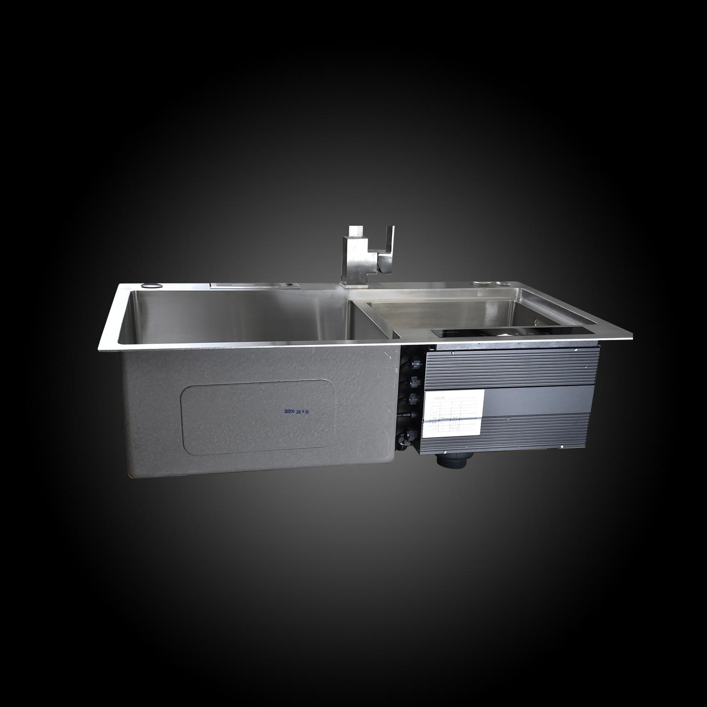 Chậu rửa bát khử khuẩn ứng dụng sóng siêu âm cao cấp, bộ điều khiển cảm ứng thông minh Hiwin KS-8248