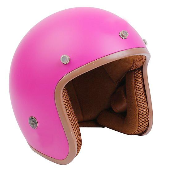 Mũ Bảo Hiểm 3/4 đầu Lót Nâu ( MÀU HỒNG SEN ) - Hàng CTY - Cam Kết Chất Lượng Giống Hình 100%