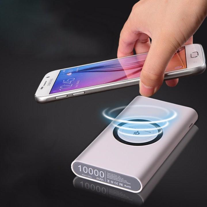 Pin sạc dự phòng không dây chuẩn Qi 10.000 MAh (Giao màu ngẫu nhiên)