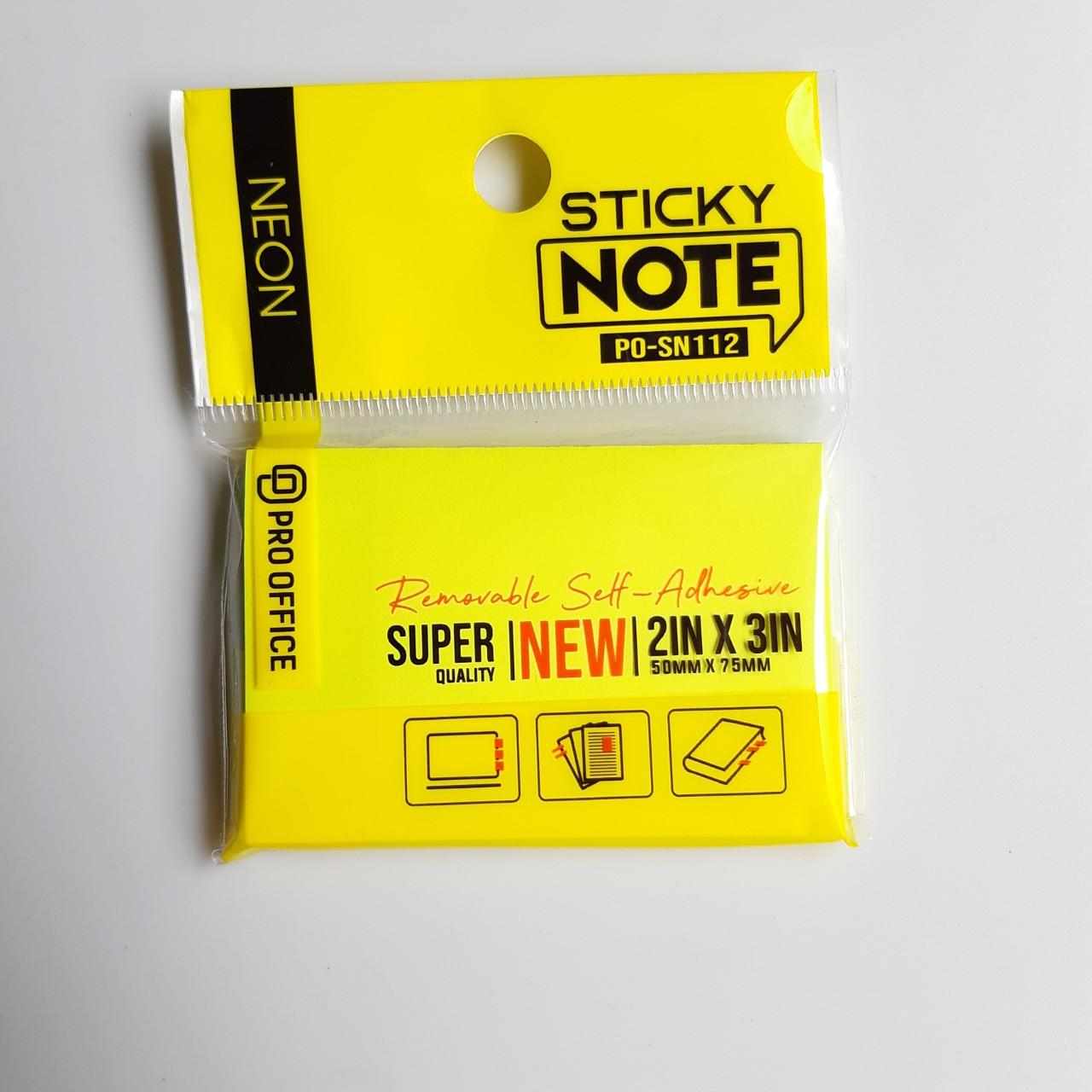 Combo 5 tập Giấy Note PRO-OFFICE SN112/3/4/5
