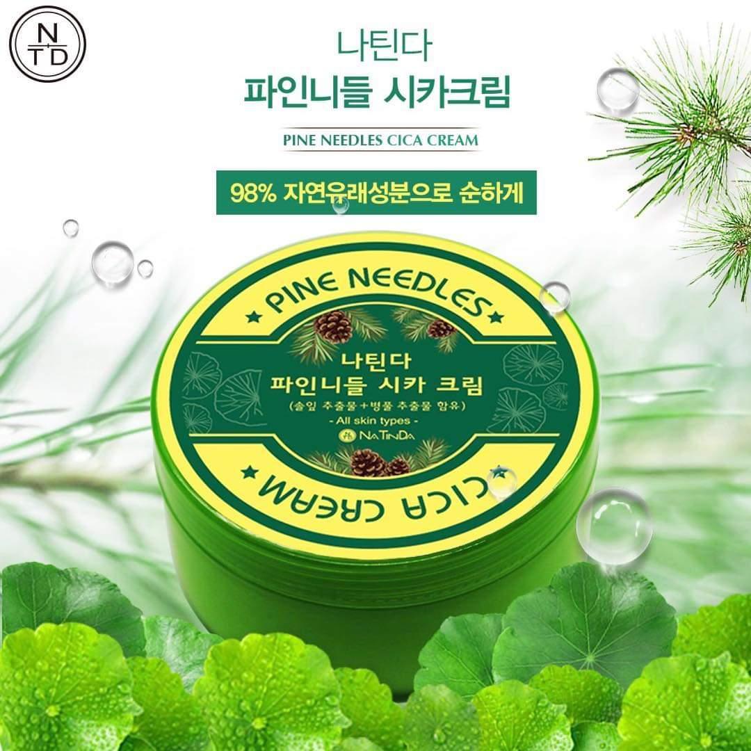 Kem dưỡng ẩm và dịu da Natinda Pine Needles Cica Cream 300ml