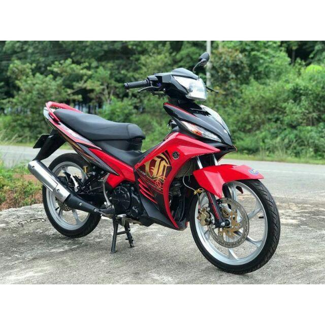 Tem rời dành cho xe máy Exciter LC đỏ đen (bộ)