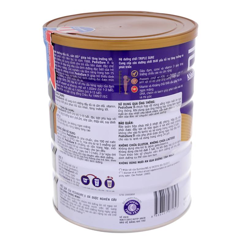Sữa bột Abbott Pediasure 850g