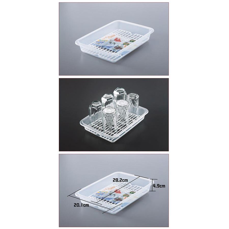 Bộ 3 khay để úp cốc chén nhựa cao cấp tiện dụng - Hàng nội địa Nhật