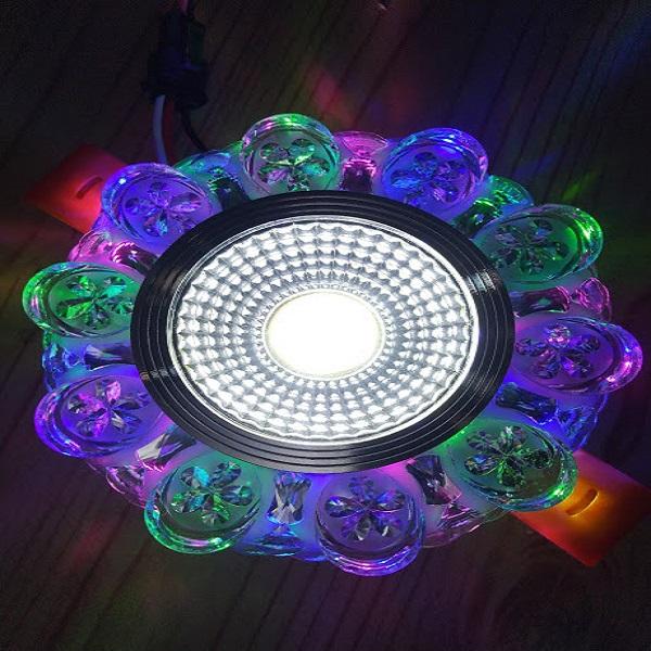10 bộ led âm trần thủy tinh viền màu 5W