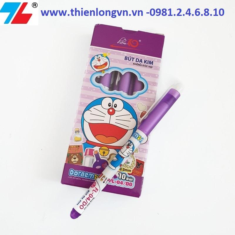 Hộp 10 cây bút lông kim Thiên Long  FL-04/DO hộp màu tím