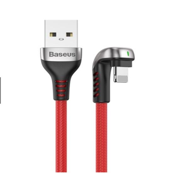 Cáp Sạc Baseus CALUXA0 2.4A Thiết Kế Khuỷu Tay  USB To 8 Pin - Hàng Chính Hãng