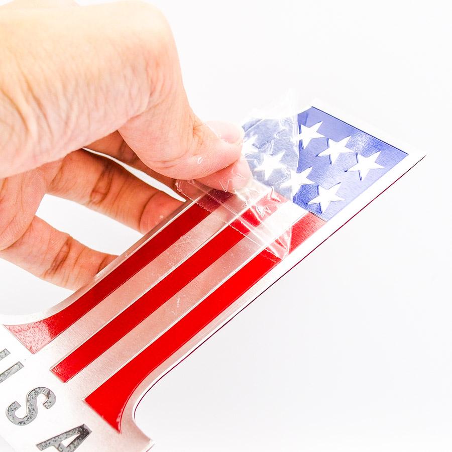 Sticker hình dán metal số 1 cờ Mỹ USA