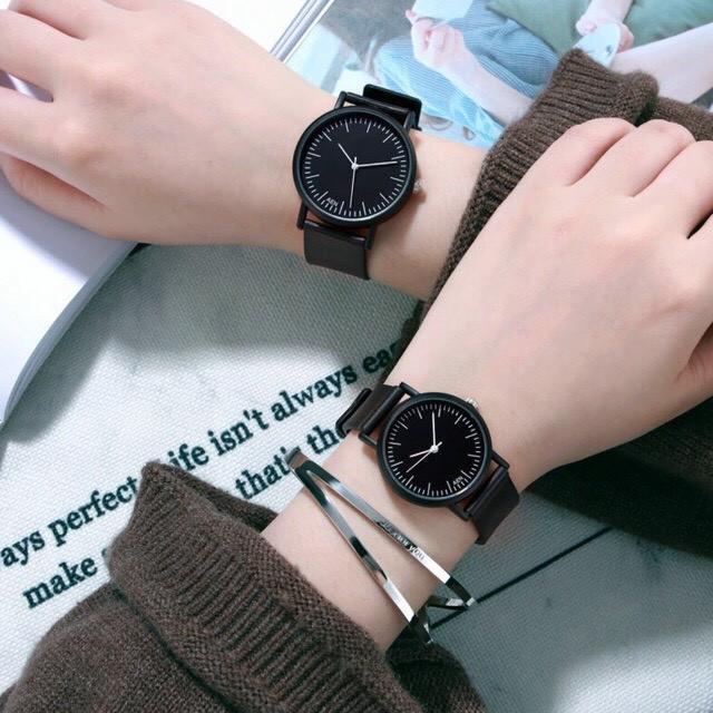 Đồng hồ nam nữ AEN mặt kim thời trang thanh lịch