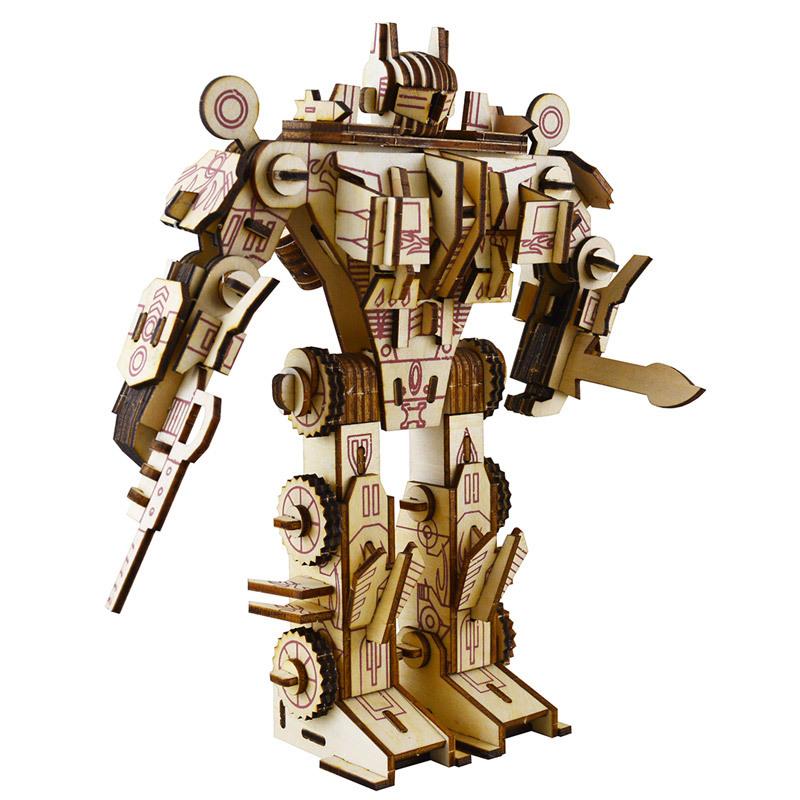 Đồ chơi lắp ráp gỗ 3D Mô hình Robot Optimus Prime Laser