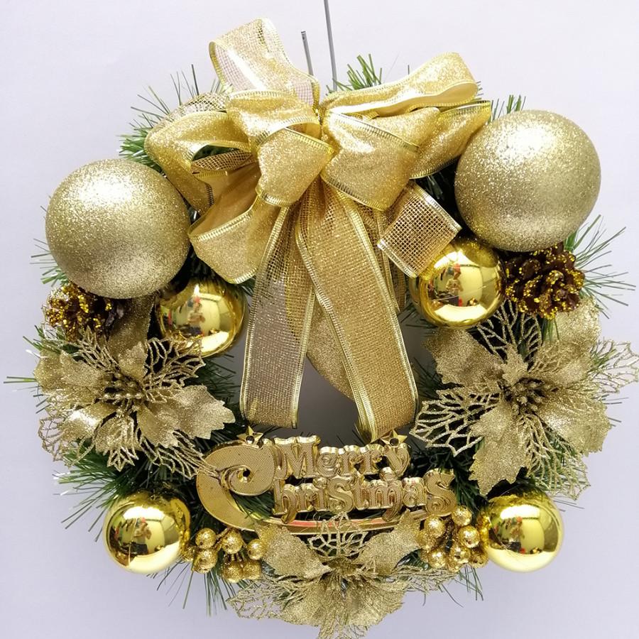 Vòng Nguyệt quế trang trí Giáng Sinh kích thước 40cm