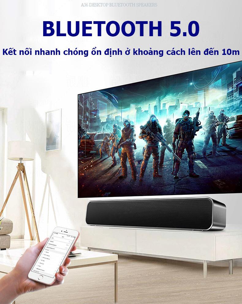 Loa bluetooth A36- E350 âm thanh chân thực, loa để bàn kết nối bằng bluetooth hoặc có dây, tương thích với nhiều thiết bị như tivi, vi tính, laptop, điện thoại...- Hàng nhập khẩu