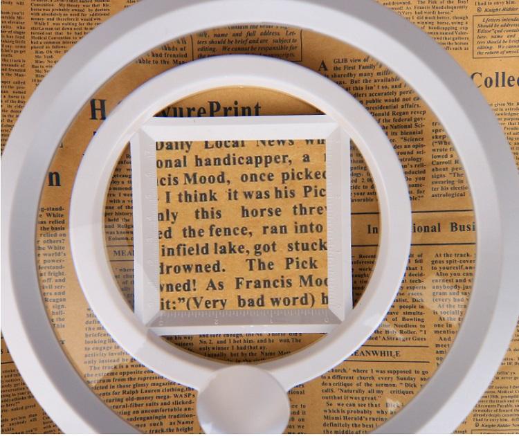 Kính lúp đọc sách báo để bàn chất lượng cao 3B-1A( Gập gọn tiện lợi, hình ảnh rõ nét)