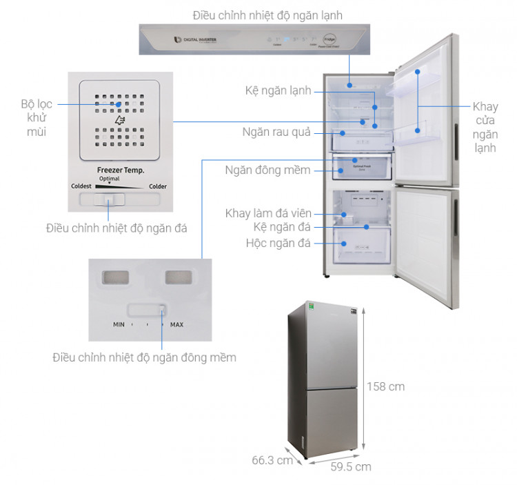 Thông số kỹ thuật Tủ lạnh Samsung Inverter 280 lít RB27N4010S8/SV