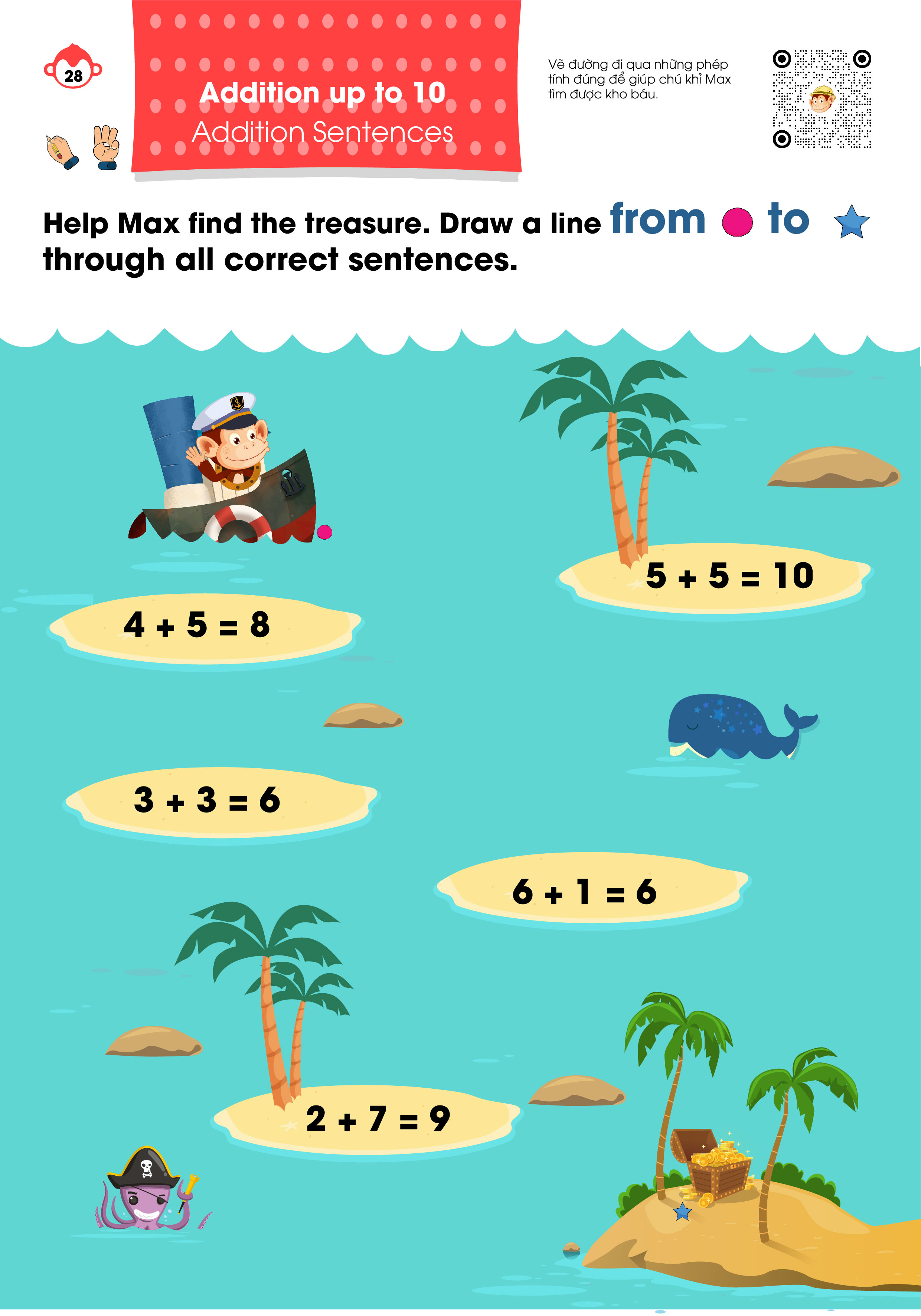 Bài tập bổ trợ Monkey Math - Kindergarten