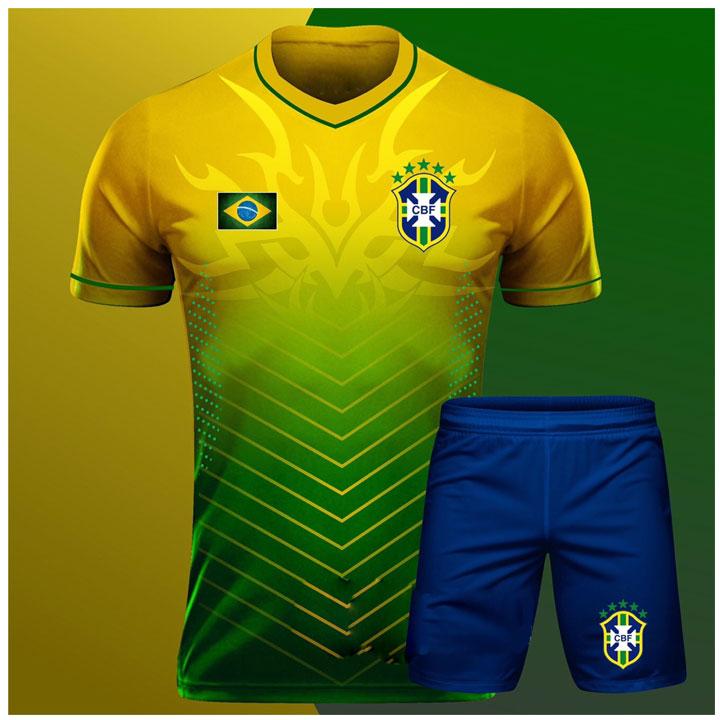 Áo Thể Thao Bóng Đá Độc Lạ Quốc Gia - Đội Tuyển Brazil 2020