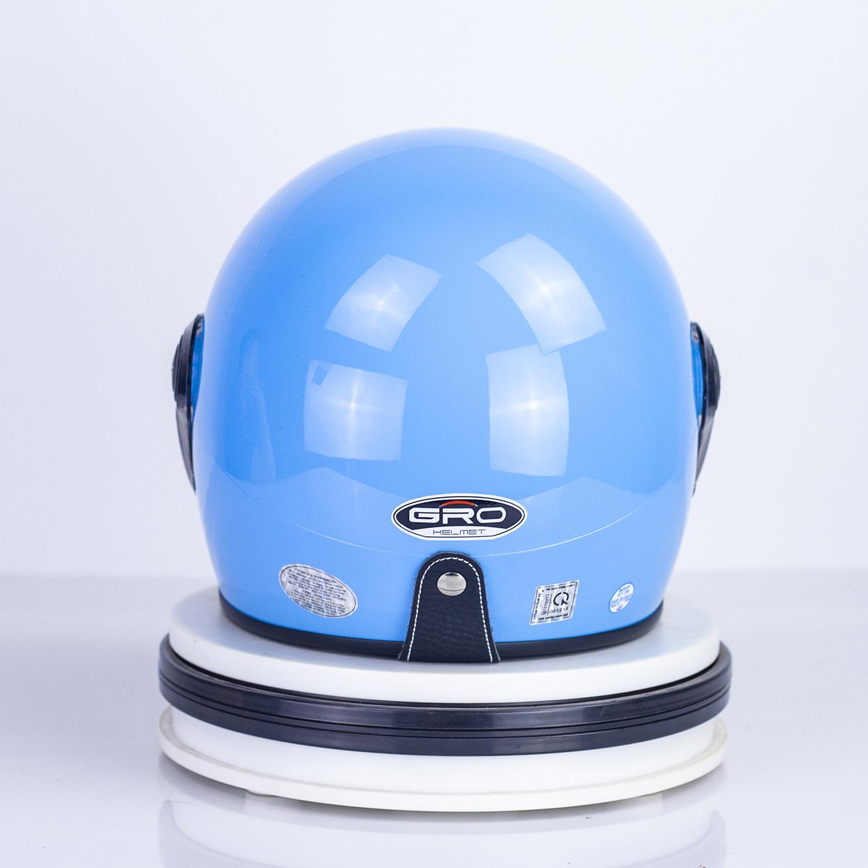 Mũ Bảo Hiểm GRO Cả Đầu Có Kính, kiểu dáng thời trang cho cả nam và nữ T818.Kính dài - Xanh Dương