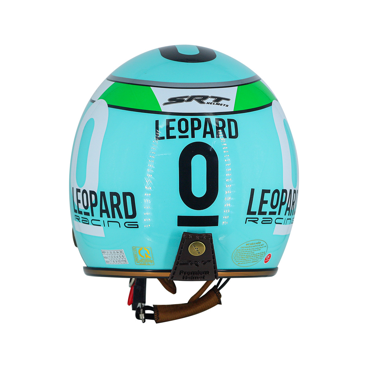 Mũ Bảo Hiểm 3/4 Đầu SRT Tem Mới LEOPARD Viền Đồng Có Lỗ Thông Thoáng - Mũ Phượt Cực Chất