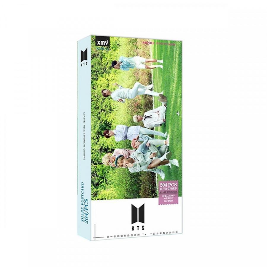 Postcard Bts nền cỏ áo xanh 204 ảnh
