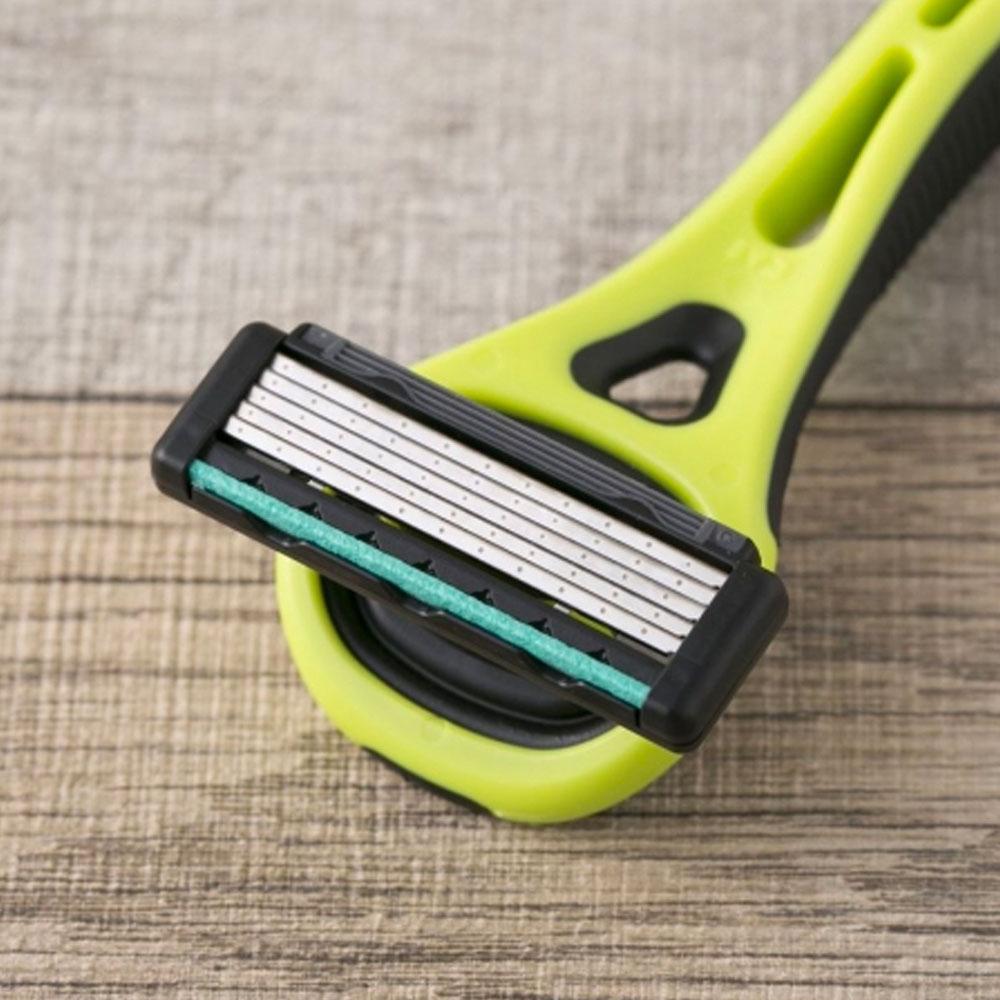 Dao cạo râu cao cấp Nhật Xfit 5 blade màu xanh 4 đầu thay (hộp dài)