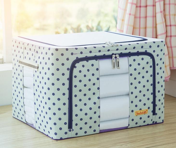 Túi Vải/Tủ Vải Đựng Quần Áo, Chăn Mềm 100L khung thép chịu lực - Hàng Chính Hãng (Giao Màu Ngẫu Nhiên)