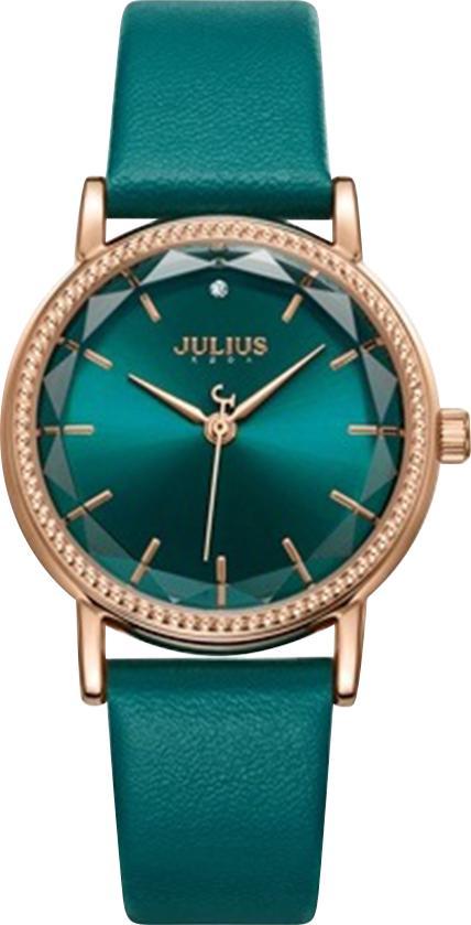 Đồng Hồ Nữ Dây Da Julius JA-1012B (32mm) - Xanh Ngọc