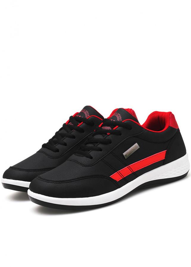 Giày Sneaker Nam Thời Trang BAZAS SN22-99BR Đen Phối Đỏ