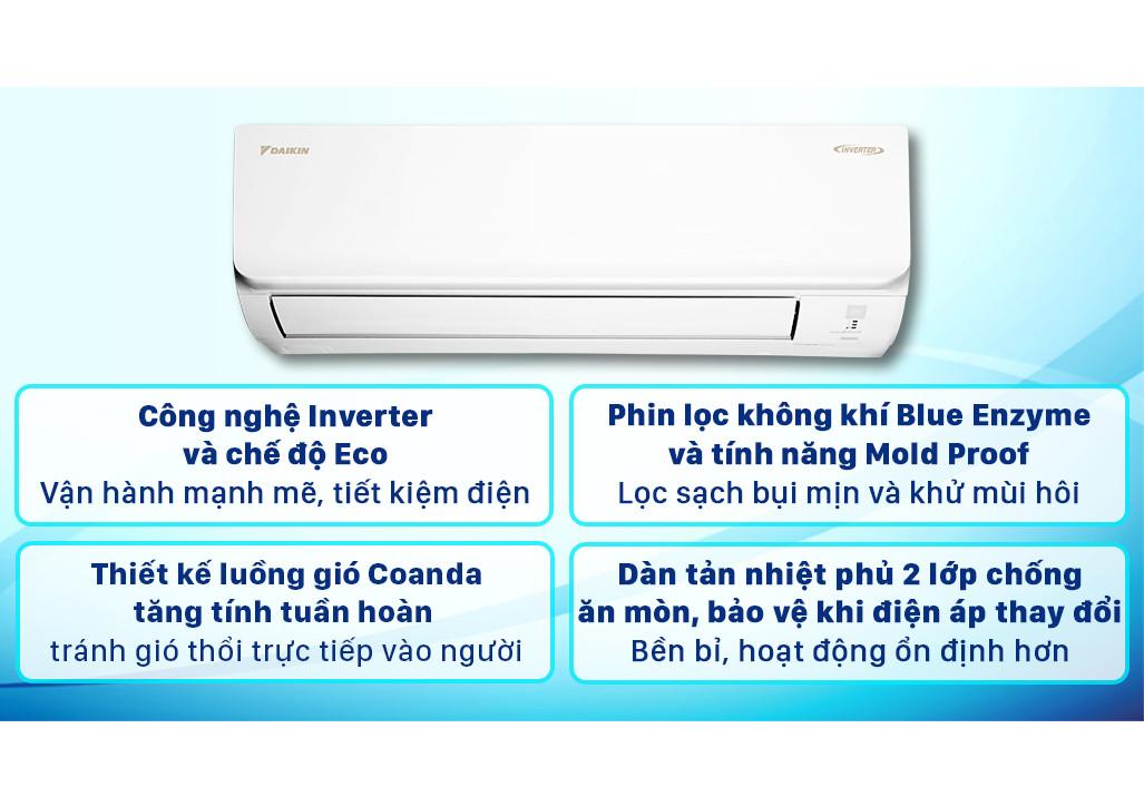 Máy lạnh Daikin Inverter 1.5 HP FTKA35VMVMV Model 2021 - Hàng chính hãng (chỉ giao HCM)