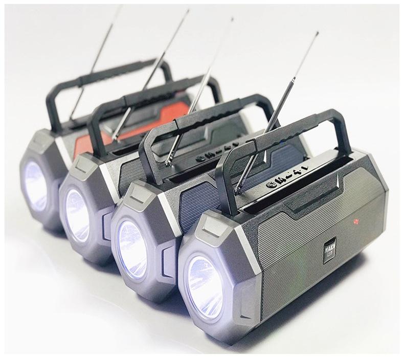 Loa Bluetooth Naidi L13 LANITH - Loa Phát Không Dây Có Ăng-ten - Kết Nối Nhanh Chóng, Ổn Định - Âm Thanh Sống Động, Bass Chất - Có Kệ Điện Thoại Kiêm Đèn Pin Siêu Sáng - Tặng Kèm Cáp Sạc 3 Đầu - Hàng Nhập Khẩu - LNA00013-CAP00001