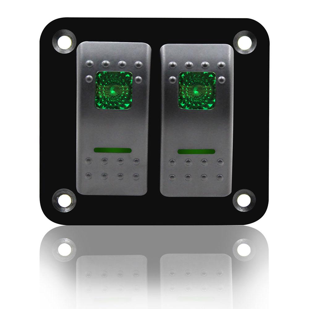 Toggle Switch Universal Cars 12V24V RV Truck - green