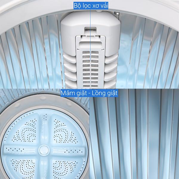 Máy Giặt Cửa Trên Sharp ES-W90PV-H (9kg) - Hàng Chính Hãng - Chỉ giao tại Hà Nội