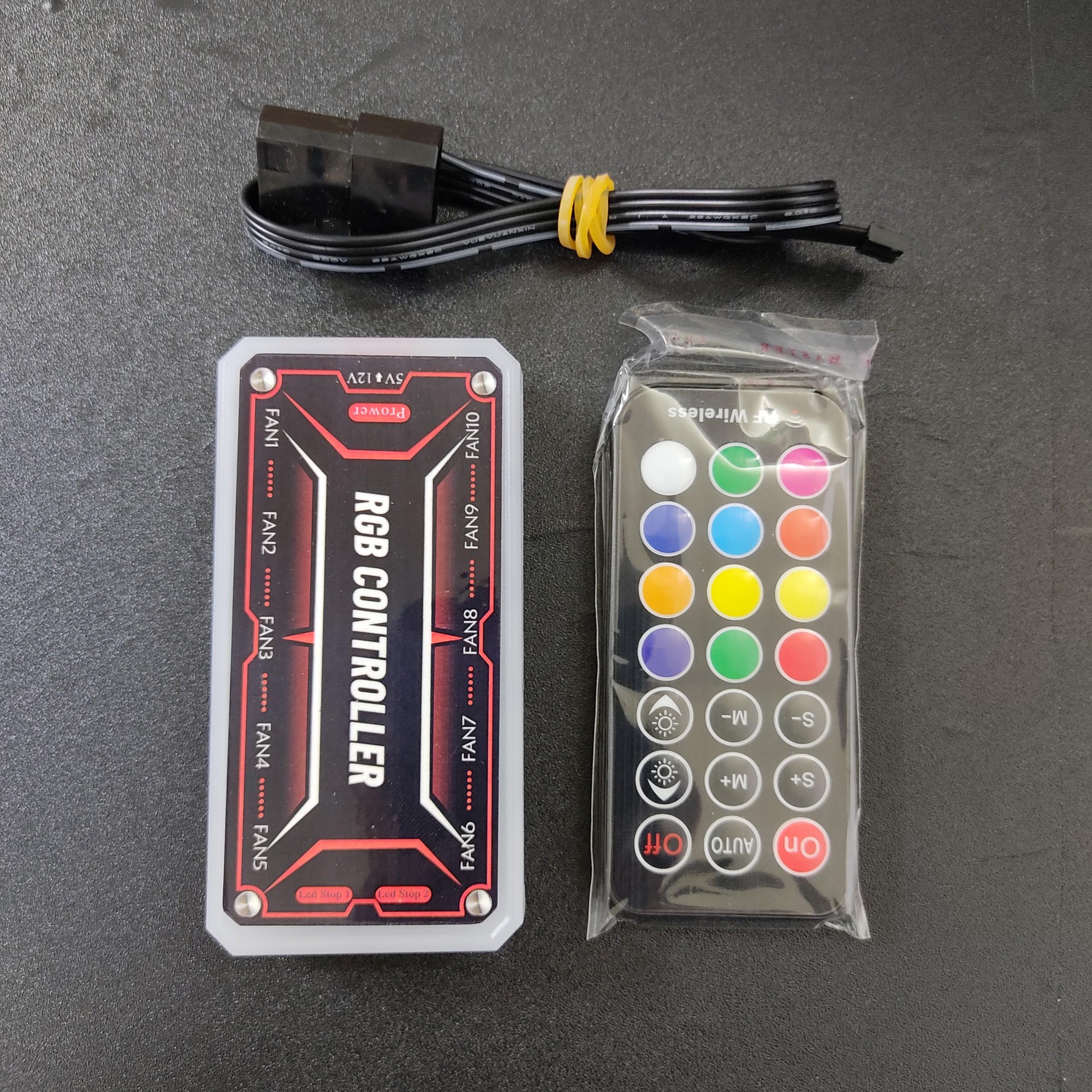 Bộ hub điều khiển quạt tản nhiệt RGB 5v ARGB, đồng bộ màu hệ thống quạt tản nhiệt