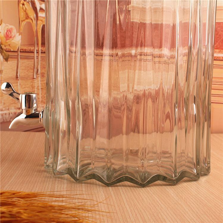 Bình Ngâm Rượu Thủy Tinh Sọc Cây Trúc 8 Lít (Có Van)