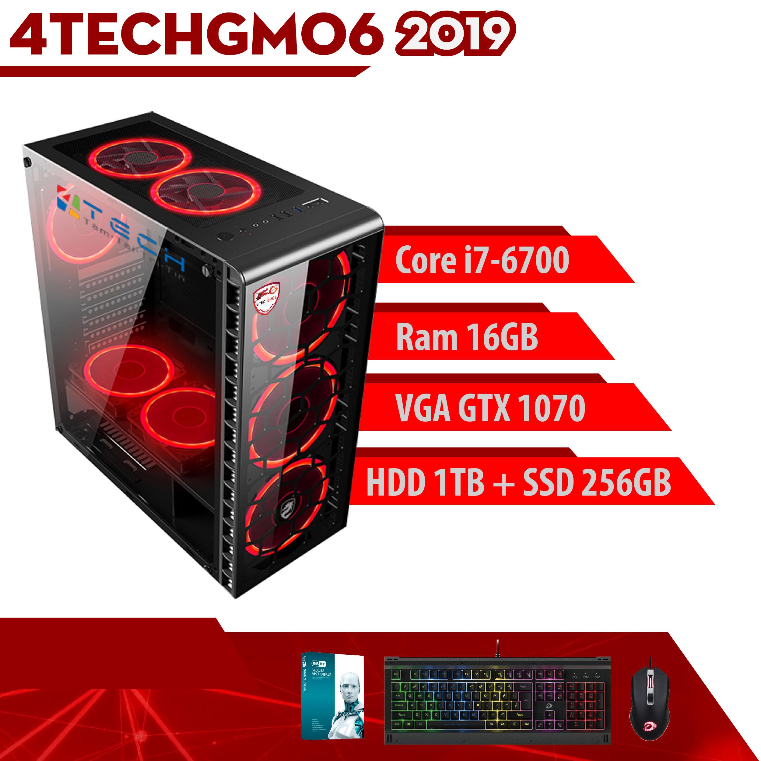 PC Case Gear Game khủng, Máy Tính 4TechGM06 2019 chiến mọi Game đòi cấu hình cao không bị chậm như Pubg, GTA5, đá bóng, Snake, truy kích, đột kích, đánh bài/danh bai và các dòng Game hay Top thế giới(siêu nhân, kinh dị, danh nhau, xây dựng). - Hàng Chính