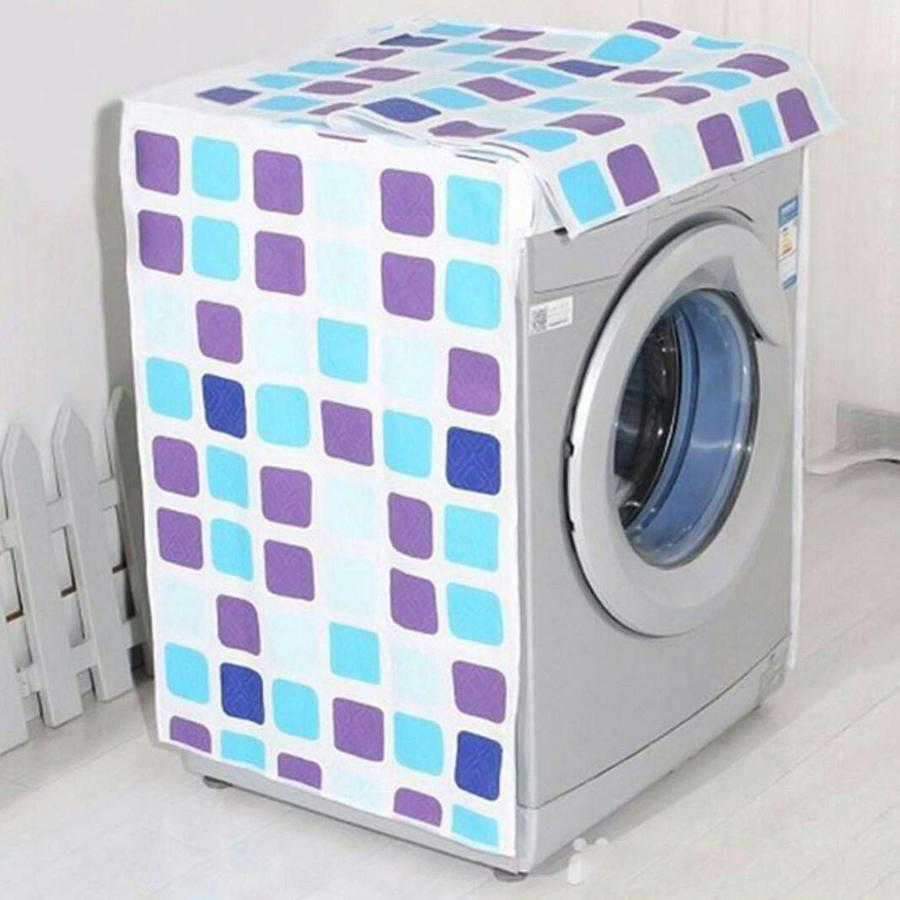Áo trùm máy giặt 9 -10kg cửa ngang - vải PEVA 3 lớp (giao màu ngẫu nhiên)