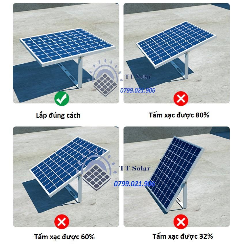 Đèn led pha năng lượng mặt trời 100w 200w 300w có đèn báo dung lượng