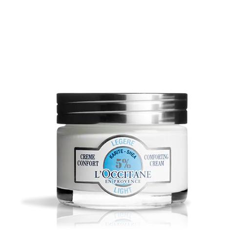 Kem dưỡng ẩm Bơ đậu mỡ L'Occitane 50ml/Shea Butter Face Light Comforting Cream 50ml