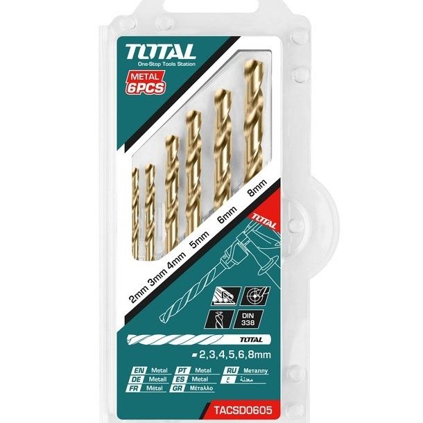 Bộ 6 mũi khoan kim loại HSS Total TACSD0605