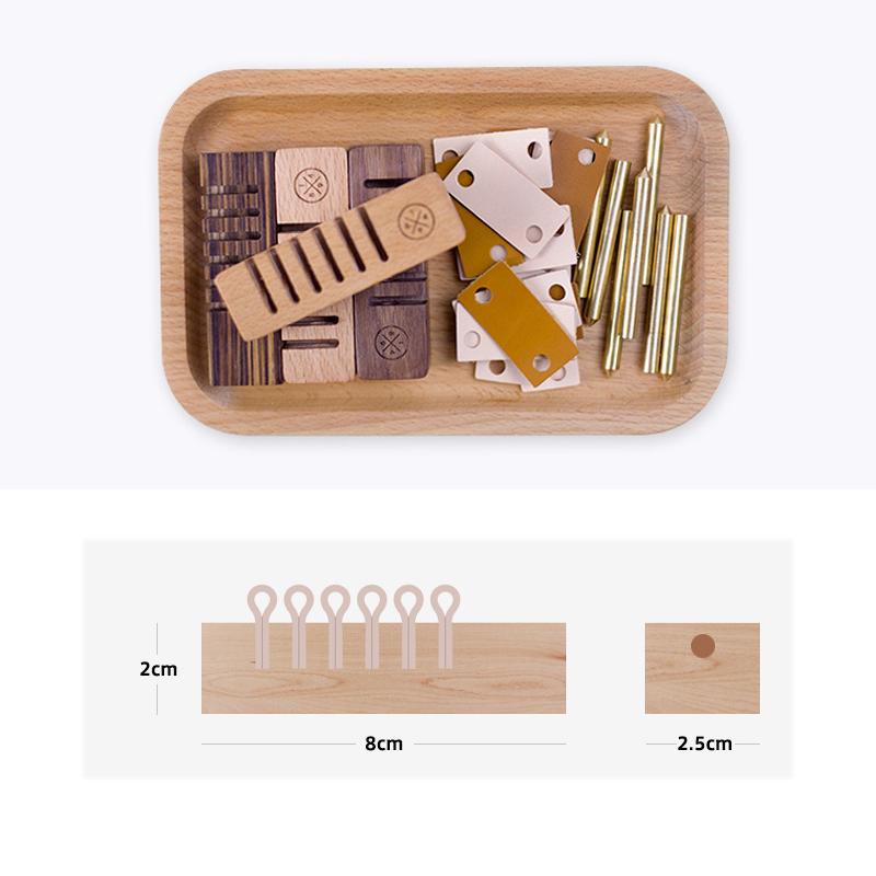 Đế giữ Cáp, Dây Sạc và Tai Nghe bằng gỗ LITTLE DESIGN - hàng nhập khẩu