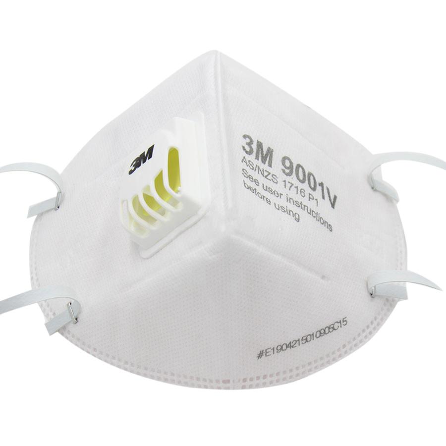 Combo 5 face mask 3m màu trắng chống bụi 9001van thở